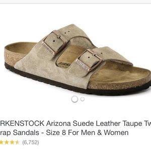 Tan suede Birkenstock's